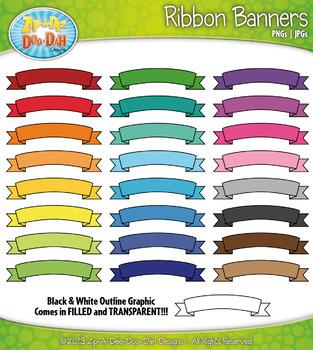 Ribbon Banners Clipart Bundle {Zip-A-Dee-Doo-Dah Designs}