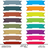 Ribbon Banners Digital Clip Art - digital ribbon banner clipart