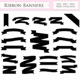 Ribbon Banners SVG text banners svg cutting files Cricut a