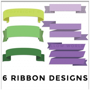 Ribbon Banner and Label Clip Art