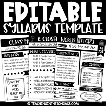 Syllabus Template Editable