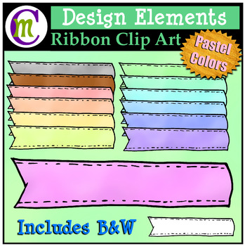 Ribbon Clipart Pastel