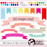 Ribbon Clipart / Ribbon Banners and Flag Images