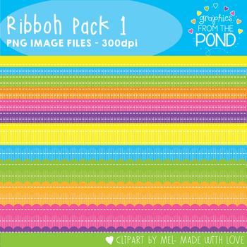 Ribbon Clipart - Set 1