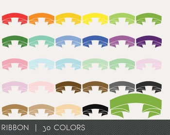 Ribbon Digital Clipart, Ribbon Graphics, Ribbon PNG