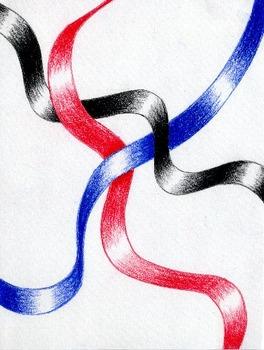 Ribbon Drawing - Value and Shading Project
