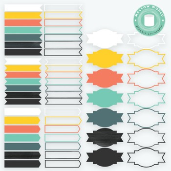 Ribbon Labels and Banners Clip Art