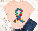 Ribbon Puzzle Autism Awareness SVG Awareness Color kind love fight hope 1341S