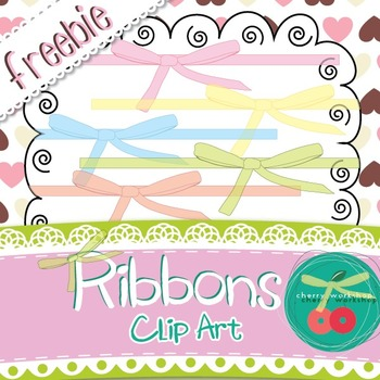 Valentine's Day Clip Art Ribbons {Freebie} {Commercial Use}