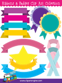 Ribbons and Badges Clip Art Collection