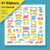 Ribbons and labels clip art collection
