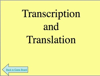 RNA Ribonucleic Acid and Transcription Powerpoint Jeopardy Review Game