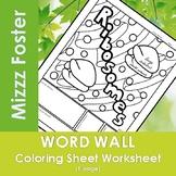 Ribosomes Word Wall Coloring Sheet