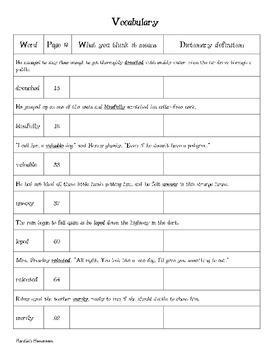 Ribsy - Vocabulary
