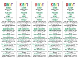 Ribsy edition of Bookmarks Plus—Handy Reading Aid/Fun Freebie for Students!