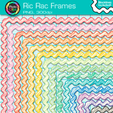 Ric Rac Frames Clip Art {Page Borders & Frames for Worksheets & Resources}