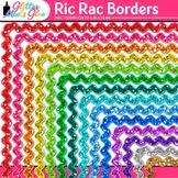 Ric Rac Border Clip Art | Rainbow Glitter Frames for Worksheets & Resources