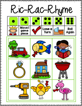 Ric-Rac-Rhyme:A differentiated rhyming tic-tac-toe game