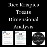 Rice Krispy Dimensional Analysis Activity