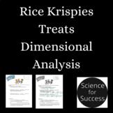 Rice Krispy Dimensional Analysis Activity