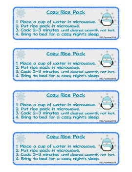 Rice Pack Craft Activity - FREEBIE