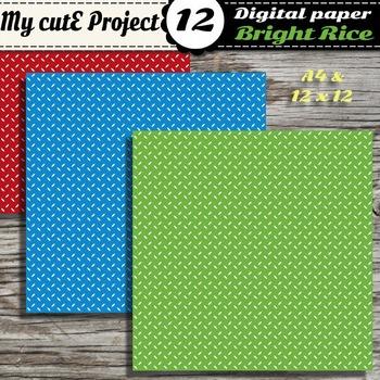 Rice grain Digital paper - Scrapbooking rice grain pattern - 12 bright colors