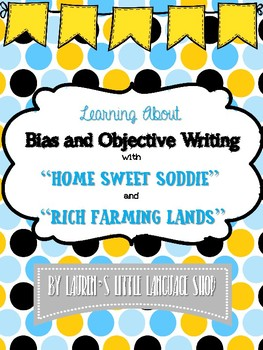 Rich Farming Lands  and Home Sweet Soddie Activity