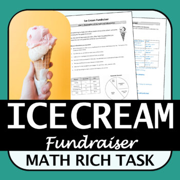 Rich Math Task | Ice Cream Fundraiser | Percents and Proportional Reasoning
