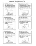 Rich Math Tasks Post-It Note Template