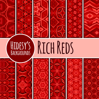 Rich Red Backgrounds / Digital Papers Clip Art Set for Commercial Use