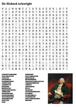 Richard Arkwright Word Search