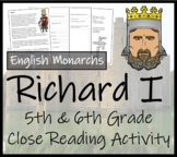 Richard I - 5th & 6th Grade Close Reading Activity