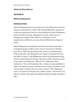 Richard III Insight Text Article