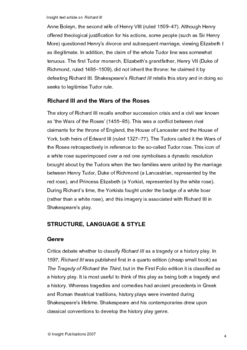 Richard III Insight Text Article
