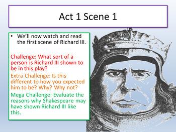 Richard III - Shakespeare Lesson 1