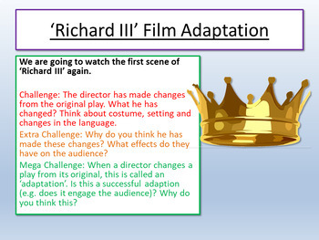 Richard III - Shakespeare Lesson 2
