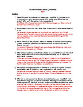 Richard III Study Guide