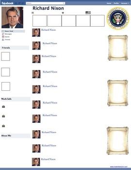 Richard Nixon Presidential Fakebook Template