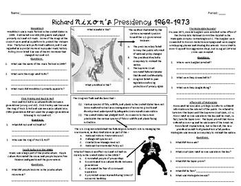 Richard Nixon Reading