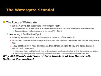Richard Nixon and the Watergate Scandal