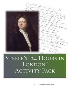 "Richard Steele's ""24 Hours in London"" Activity Pack"