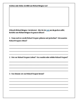 (GERMAN LANGUAGE) Richard Wagner:  Berühme Persönlichkeiten - Famous Person