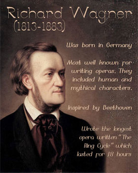 Richard Wagner printable poster