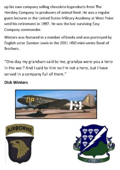 Richard Winters (Band of Brothers) Handout