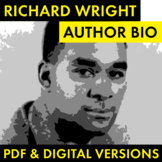 Richard Wright Author Study Worksheet, Native Son, Easy Biography Activity, CCSS