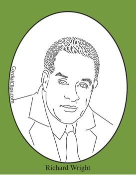 Richard Wright Clip Art, Coloring Page or Mini Poster