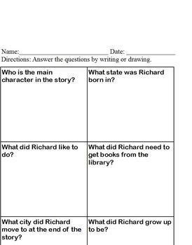 Richard Wright Rebus Bio; Short Story & Comprehension; Black history, Special Ed