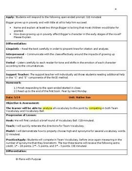 Native Son by Richard Wright - Flight through Discipline (Lesson Bundle)