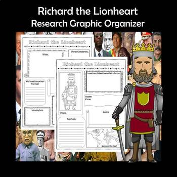 Richard the Lionheart Biography Research Graphic Organizer
