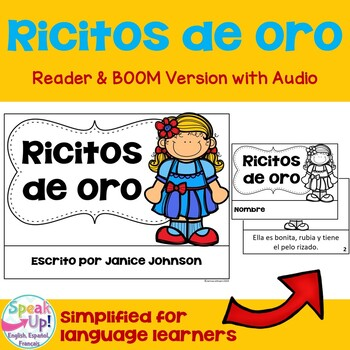 Ricitos de Oro ~ Simplified Goldilocks Spanish reader & Sentence forming pages